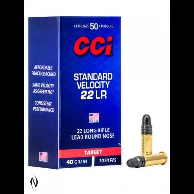 CCI Standard Velocity 40Gr .22LR 500QTY
