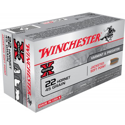 Winchester .22 Hornet Super X 45gr 50pk