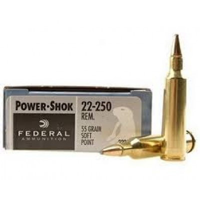 Federal .22-250 Power-Shok 55gr 20pk