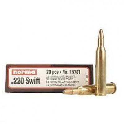 Norma .220 Swift 50gr Semi Point