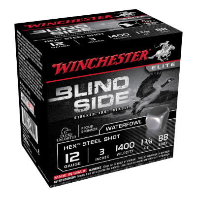 "WINCHESTER BLINDSIDE 12G BB 3"" 39GM CASE"