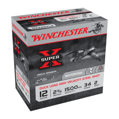 "WINCHESTER SUPER X STEEL 12G  2-3/4"" 34GM CASE"