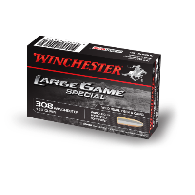 WINCHESTER LARGE GAME SPECIAL 308WIN 180GR WOODLEIGH PP