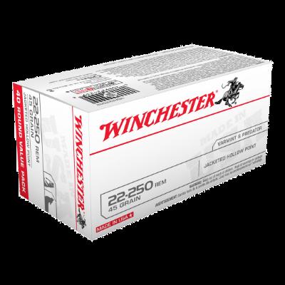 WINCHESTER 22-250REM 45GR JHP 40 Pack