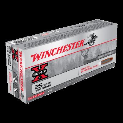 WINCHESTER SUPER X 25WSSM 120GR PEP