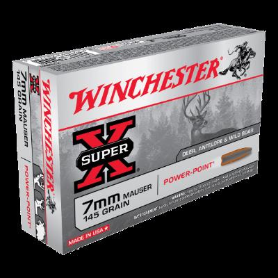 WINCHESTER SUPER X 7MM MAUSER 145GR PP