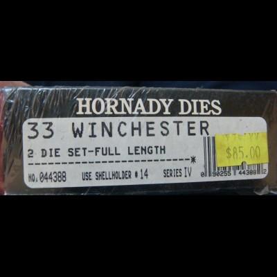 *SPECIAL* - Hornady FL Die Set 33WCF