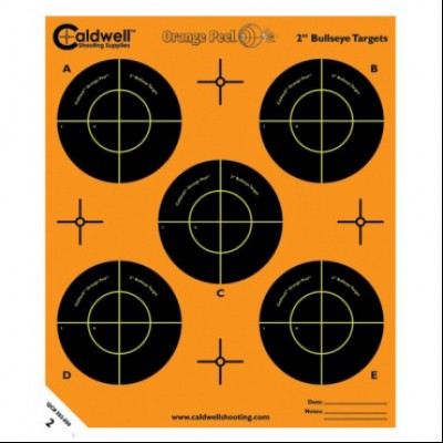 "CALDWELL ORANGE PEEL BULLSEYE 2"" 10 PACK"