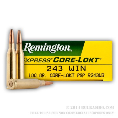 Remington .243 Core-Lokt 100gr 20pk