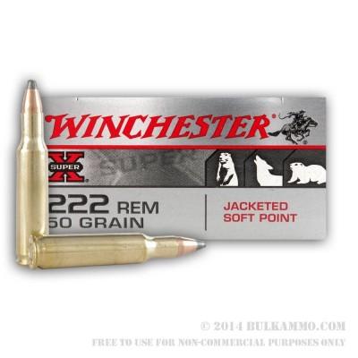 Winchester .222 Super X 50gr 20pk